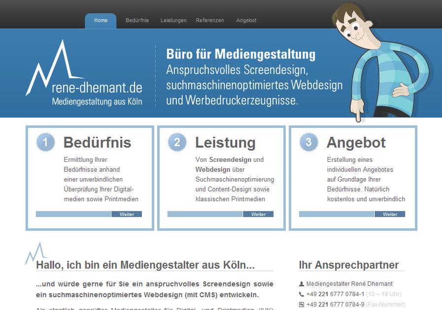 A great web design by Büro für Mediengestaltung in Digital und Print, Cologne, Germany: