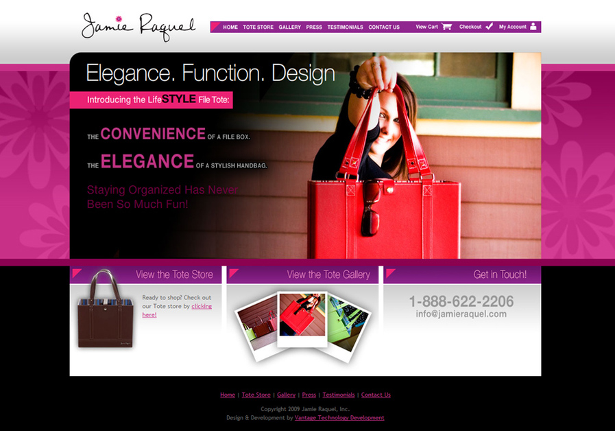 A great web design by Vantage Technology Development, Visalia, CA: