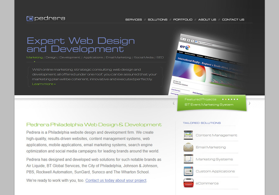 A great web design by Pedrera Philadelphia Web Design, Philadelphia, PA: