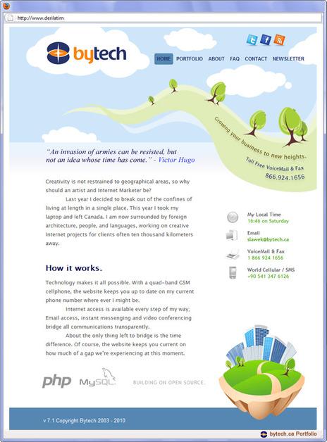 A great web design by Bytech, Winnipeg, Canada: