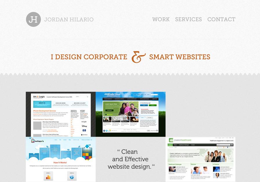 A great web design by Jordan Hilario, Manila, Philippines: