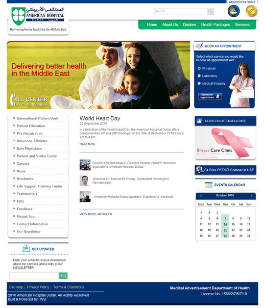 A great web design by WSI Net Power, Dubai, United Arab Emirates: