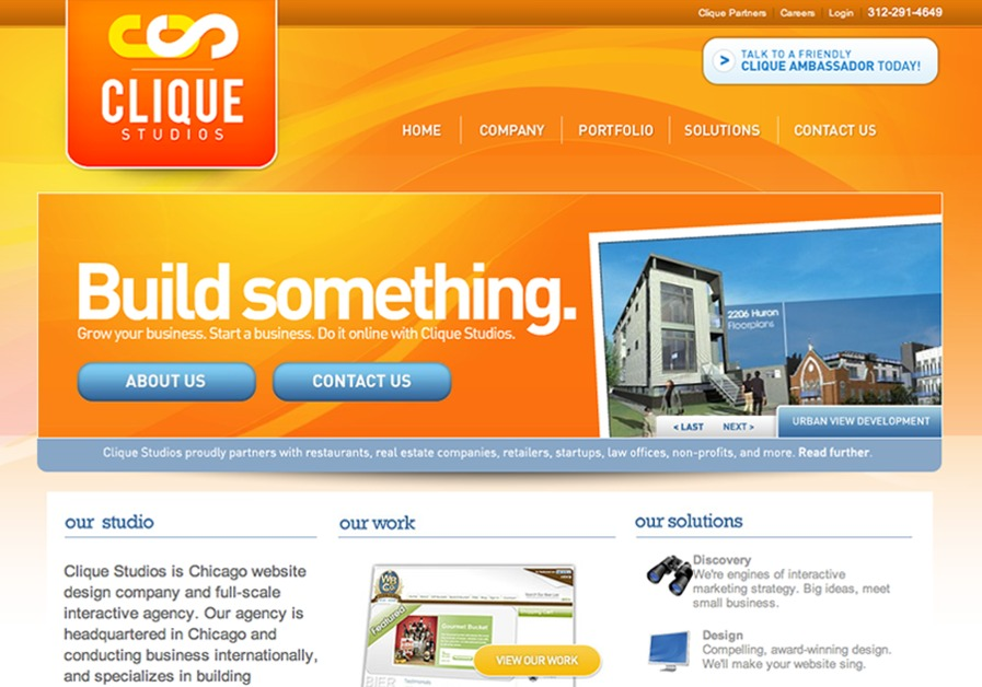 A great web design by Clique Studios, Chicago, IL:
