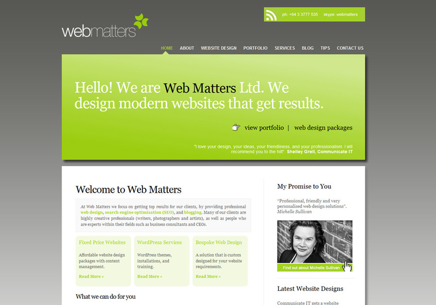 A great web design by Web Matters, Christchurch, New Zealand: