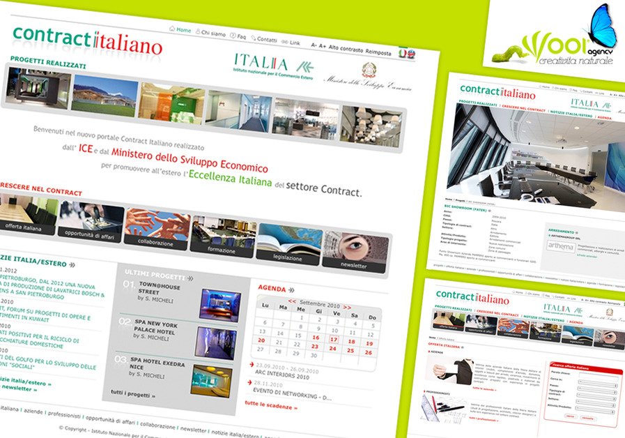 A great web design by WOOI Web Agency, Varese, Italy: