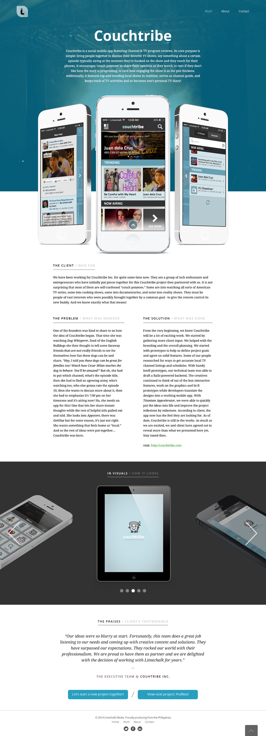 A great web design by Limechalk Media, Manila, Philippines: Mobile App , Social/Community , Entertainment , Other