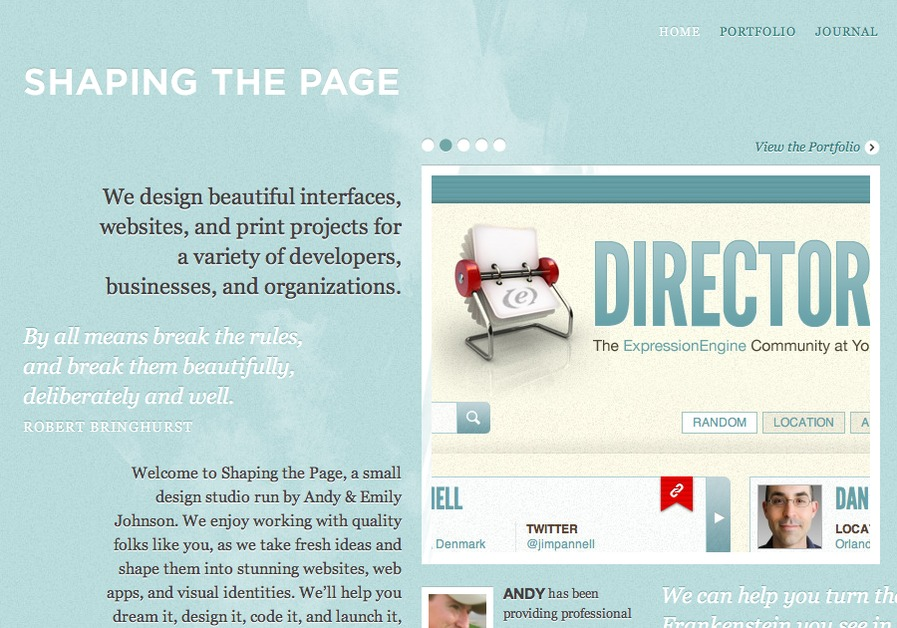 A great web design by Shaping the Page, Columbus, OH: