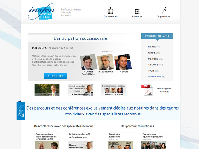 A great web design by MH Communication, Caen, France: