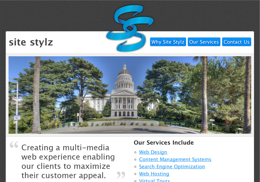 A great web design by Site Stylz, Sacramento, CA: