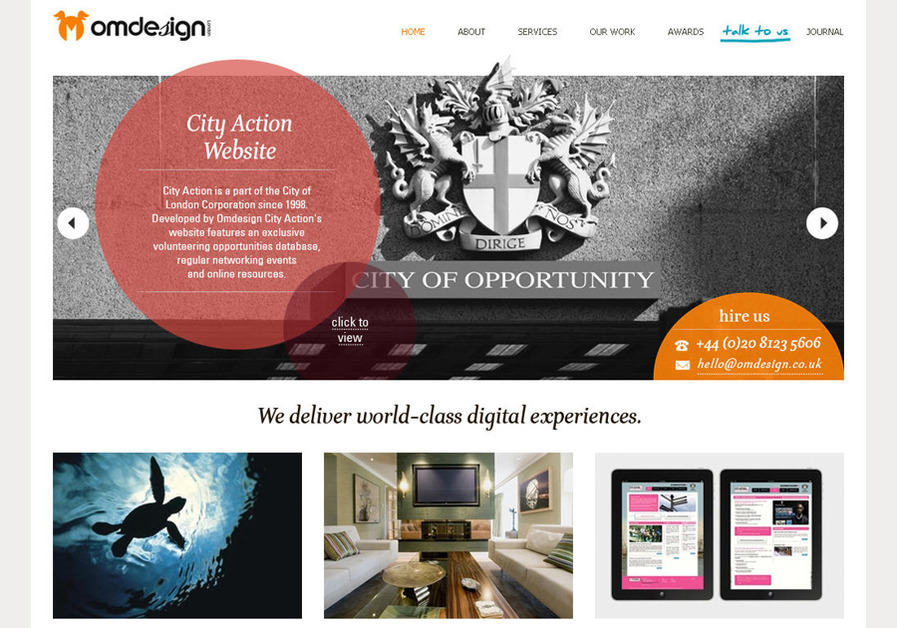 A great web design by OMdeSIGN, London, United Kingdom: