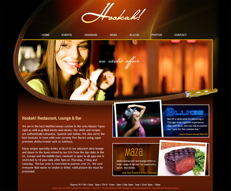 A great web design by Stormfront Productions, Indianapolis, IN: