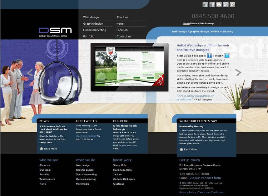 A great web design by DSM Design, Bournemouth, United Kingdom: