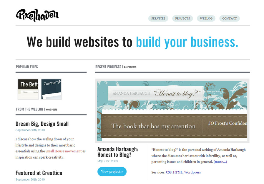A great web design by Pixelhaven, Cincinnati, OH:
