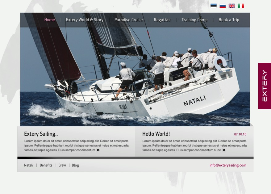 A great web design by Dreamcom Solutions, Tallinn, Estonia: