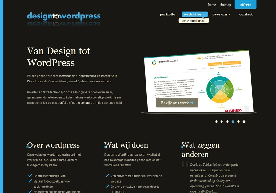 A great web design by Design to Wordpress, Amersfoort, Netherlands: