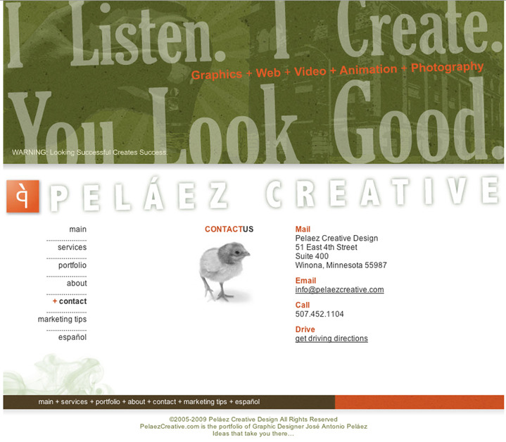 A great web design by Pelaez Creative, Winona, MN:
