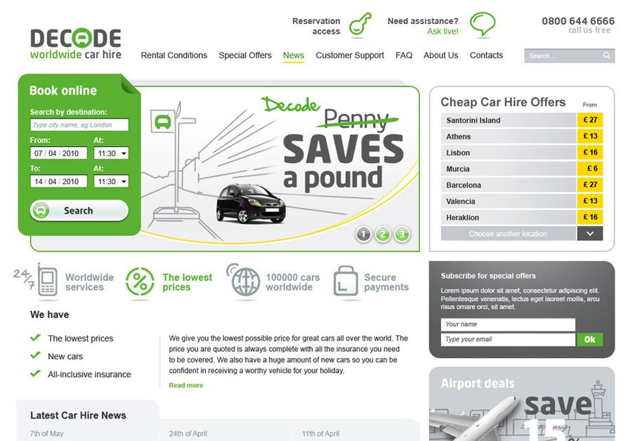 A great web design by Anton Cakuls, Riga, Latvia: