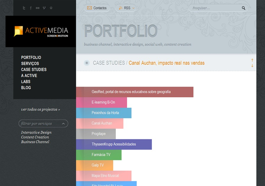 A great web design by Active Media, Lisboa, Portugal:
