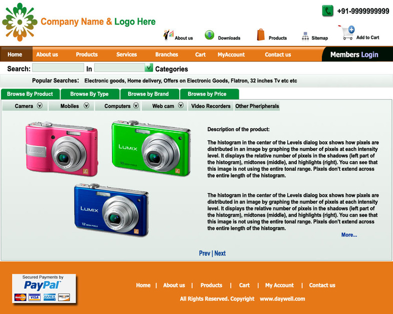 A great web design by Abyas e-Solutions, Hyderabad, India: