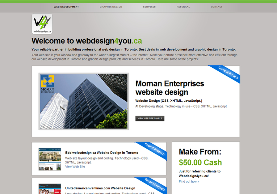A great web design by Webdesign4you.ca, Toronto, Canada: