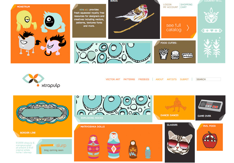 A great web design by OrangeYouGlad, New York, NY: