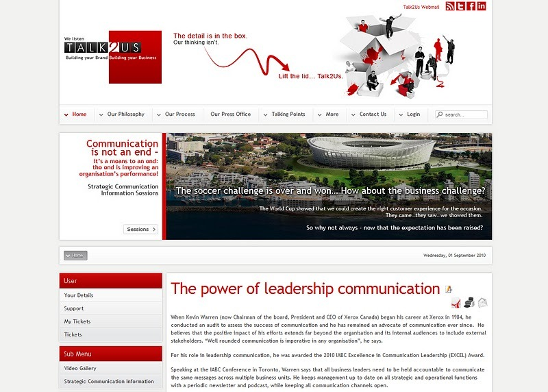 A great web design by Talk2Us, Bryanston, South Africa: