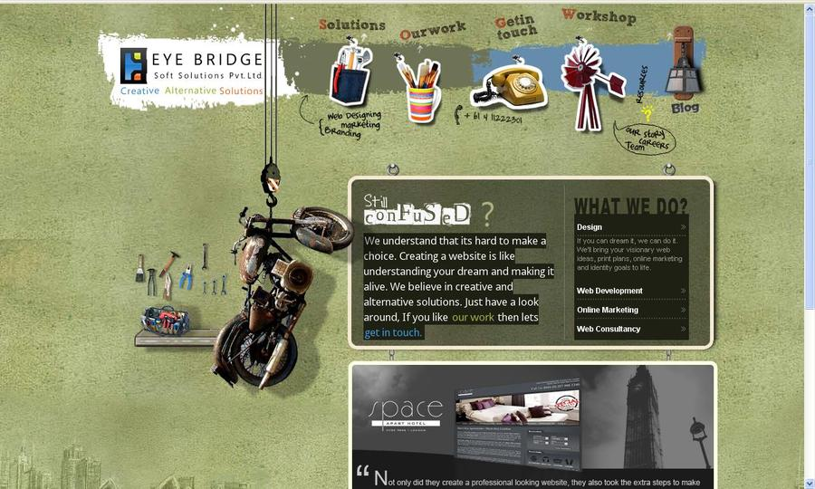 A great web design by Eye Bridge Soft Solutions, Queensland, Australia: