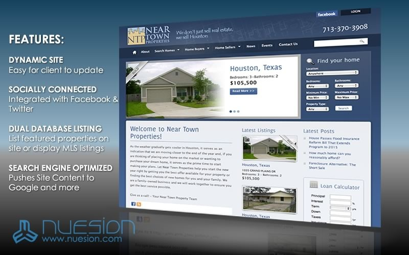 A great web design by Nuesion Web Development & Design, Houston, TX: