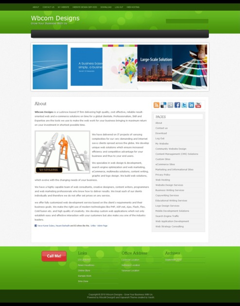 A great web design by Wbcom Designs, Lucknow, India: