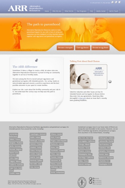 A great web design by Bauhs Creative Group, Chicago, IL:
