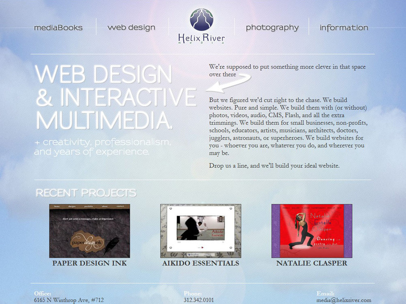 A great web design by Helix River Media, Chicago, IL: