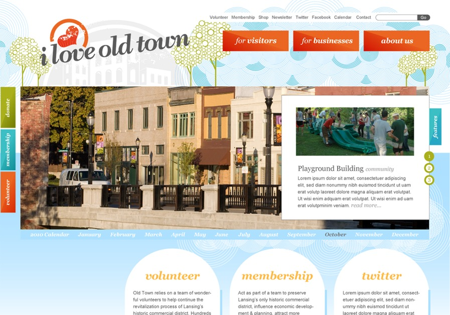 A great web design by Ciesa Design, Lansing, MI: