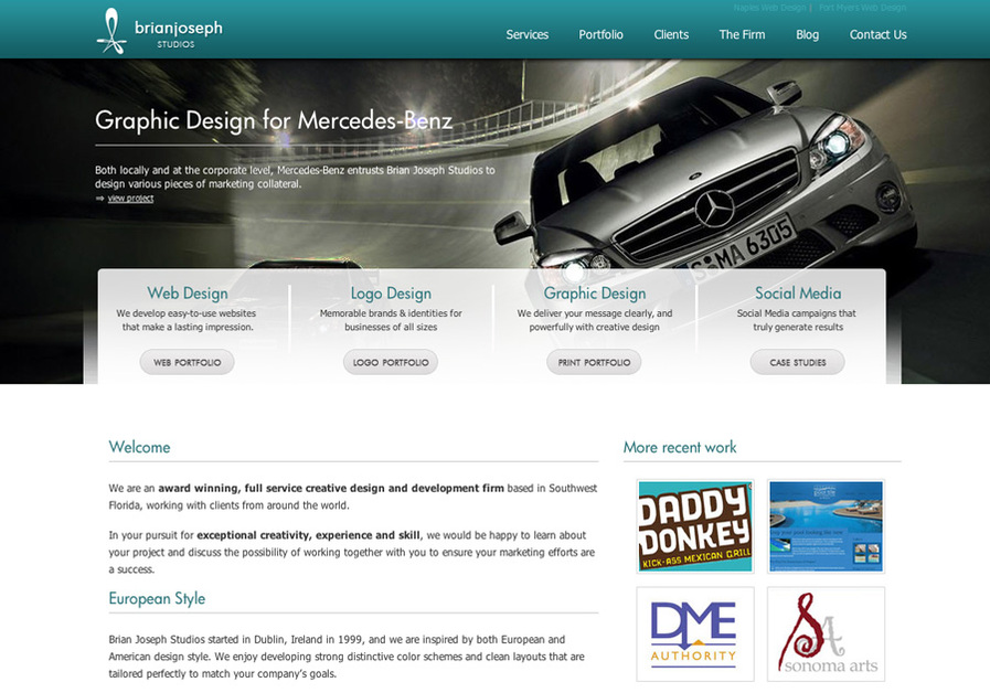A great web design by Brian Joseph Studios, Naples, FL: