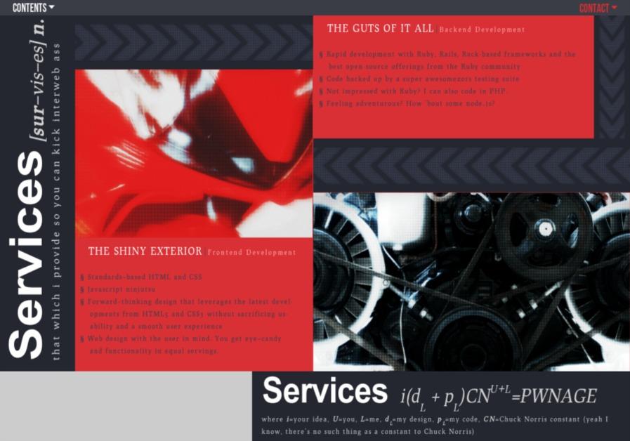 A great web design by Lou Gonzalez, San Antonio, TX: