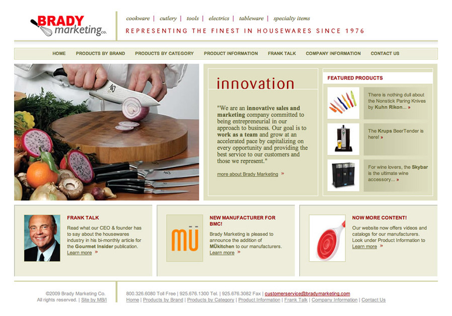 A great web design by Marissa Berger Interactive, Inc. (MB/I), San Francisco, CA:
