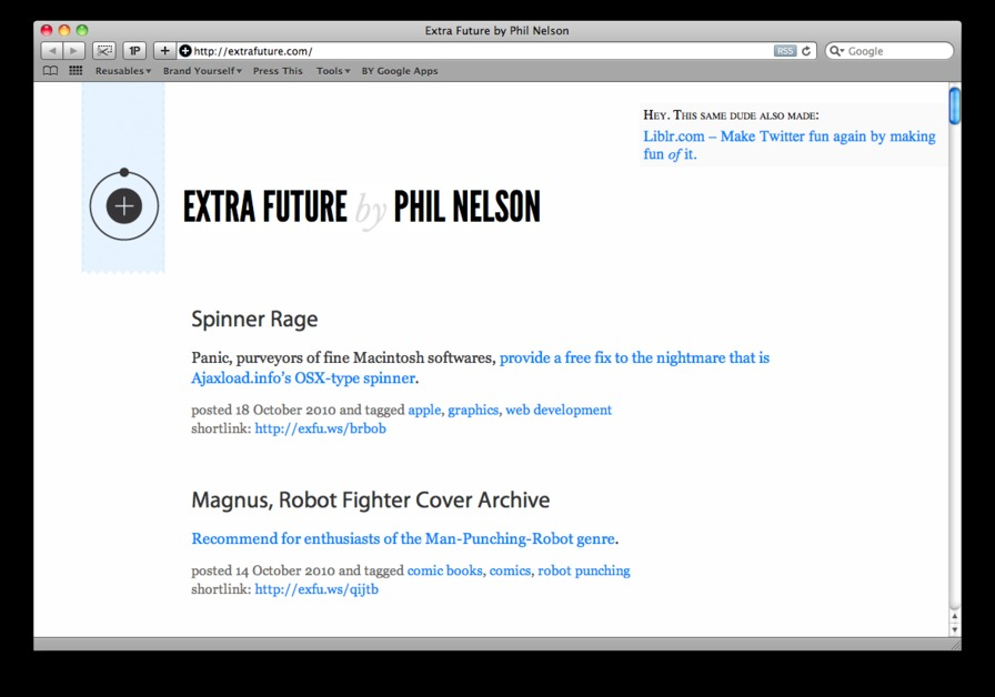A great web design by Phil Nelson, South Bend, IN: