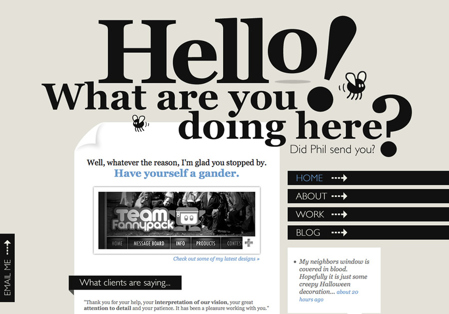 A great web design by Denise Chandler, Salt Lake City, UT: