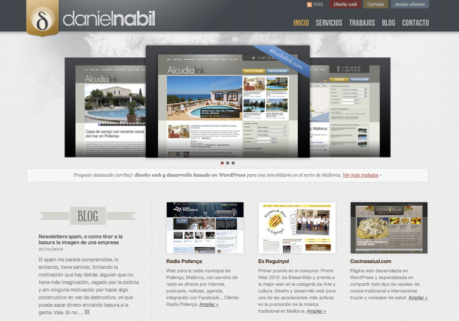 A great web design by Daniel Nabil, Palma de Mallorca, Spain: