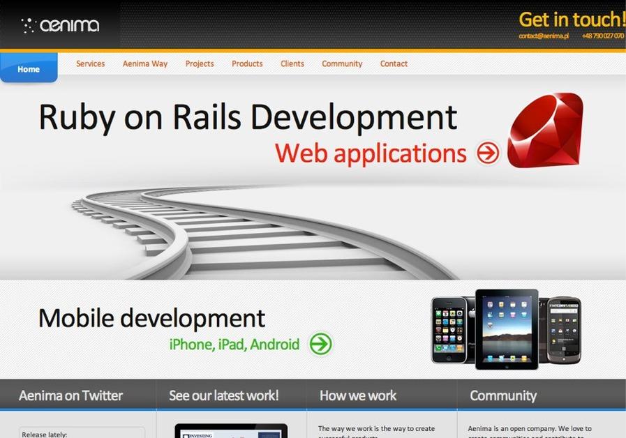 A great web design by Aenima, Warsaw, Poland: