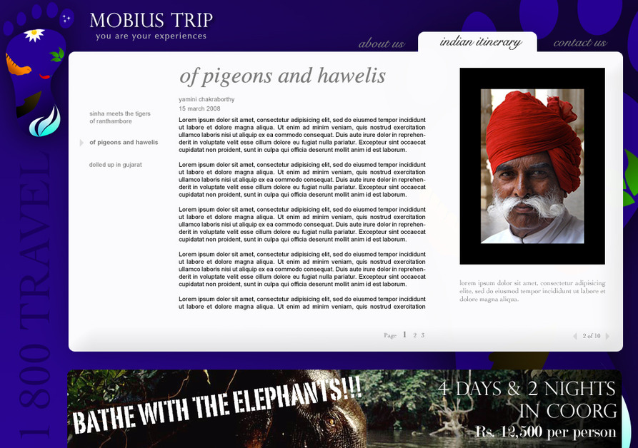 A great web design by azurewaters, Bangalore, India: