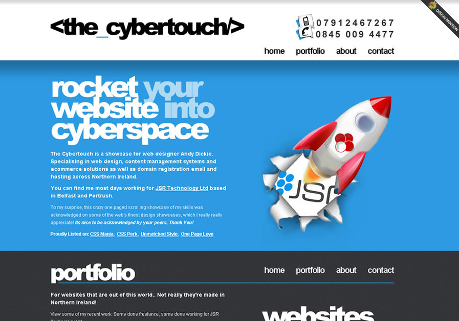 A great web design by <the_cybertouch/>, Belfast, United Kingdom: