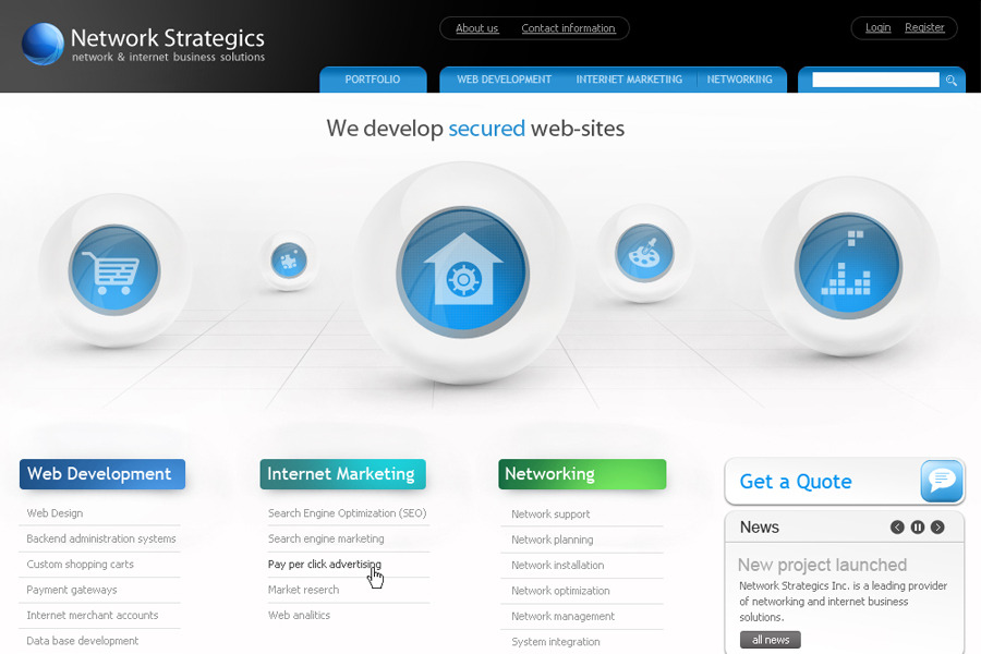 A great web design by Network Strategics, Fort Lauderdale, FL: