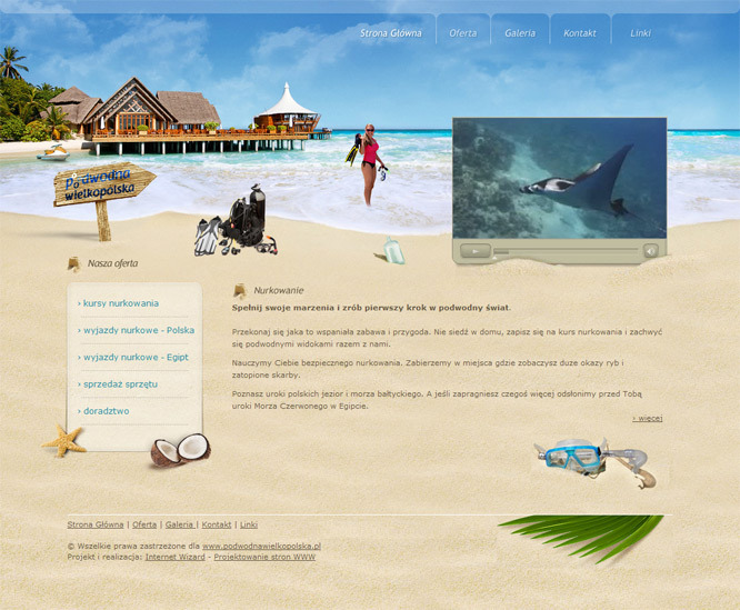A great web design by Internet Wizard, Poznan, Poland: