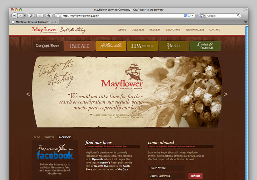 A great web design by Jackrabbit Design, Boston, MA: