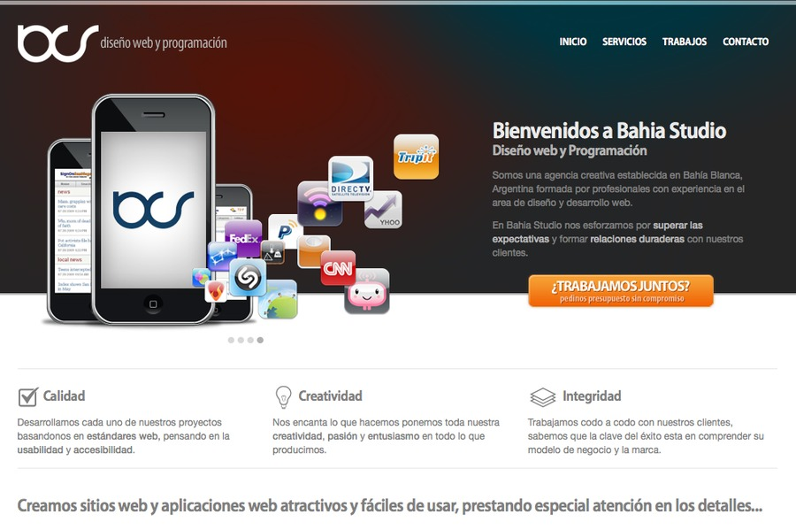 A great web design by Bahia Studio, Buenos Aires, Argentina: