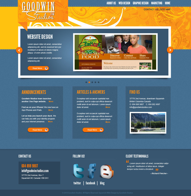 A great web design by Goodwin Studios, Vancouver, Canada: