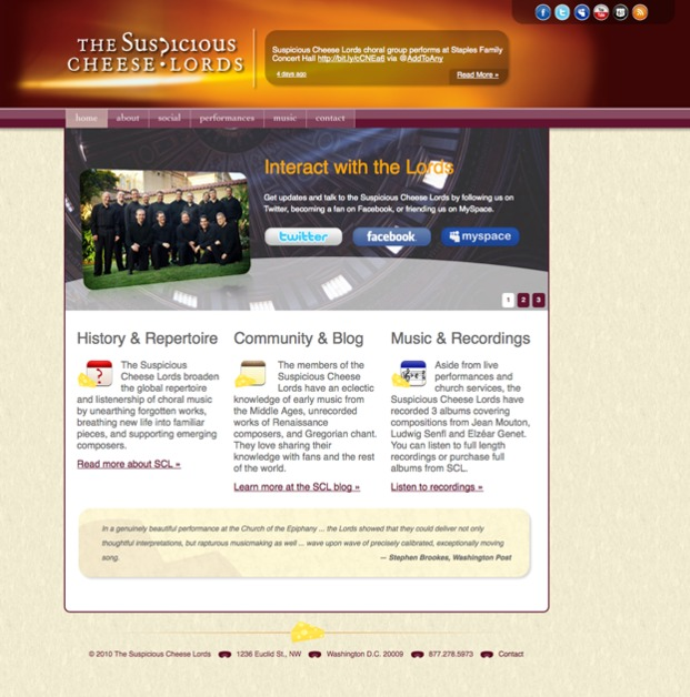 A great web design by The Website Guys, Knoxville, TN: