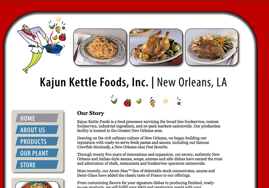 A great web design by EPS, Inc., New Orleans, LA: