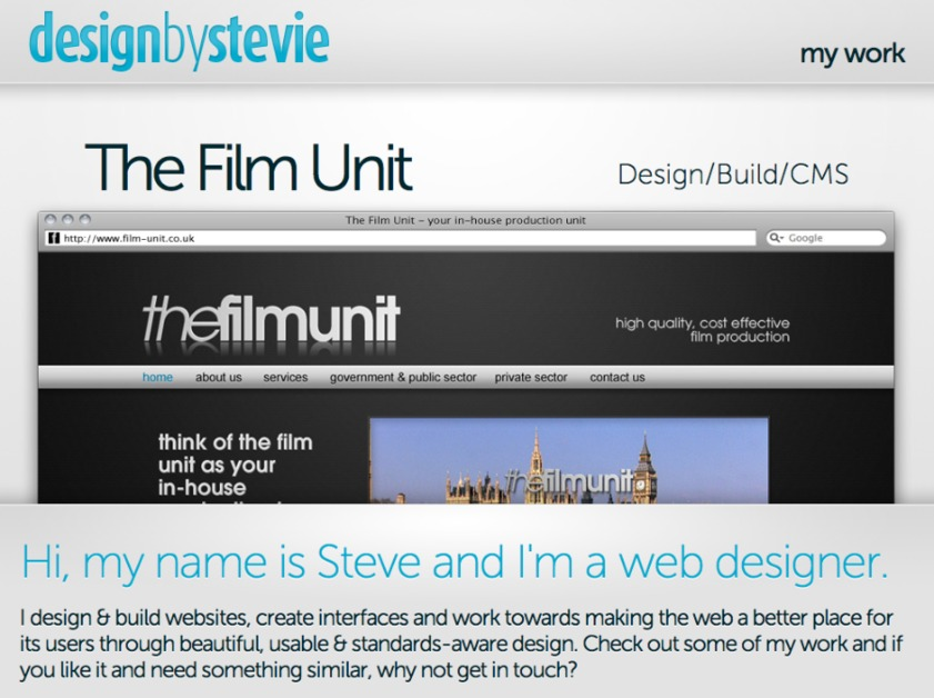A great web design by designbystevie.com, London, United Kingdom: