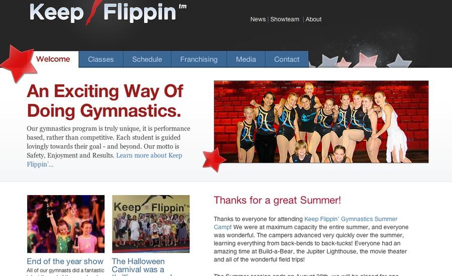 A great web design by Tesoriere, West Palm Beach, FL: